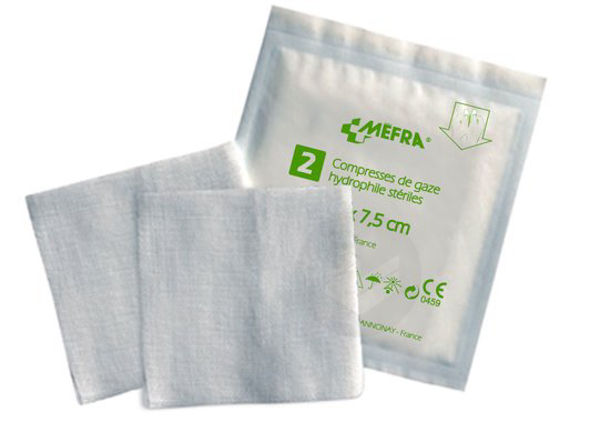 Mefra Compr Sterile Non Tissee 7 5 X 7 5 Cm 10 Sach 2