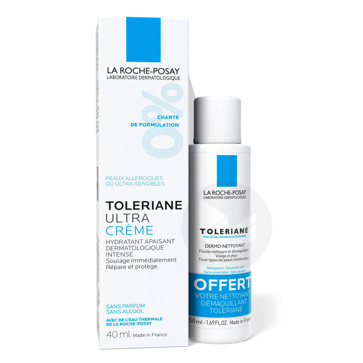 Toleriane Ultra Soin hydratant apaisant intense + Nettoyant démaquillant offert