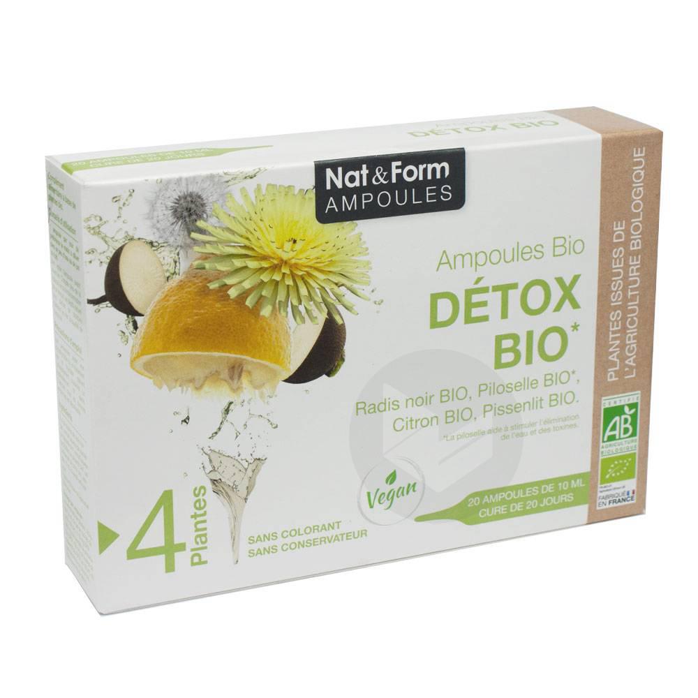 NAT&FORM AMPOULES S buv détox Bio 20Amp/10ml