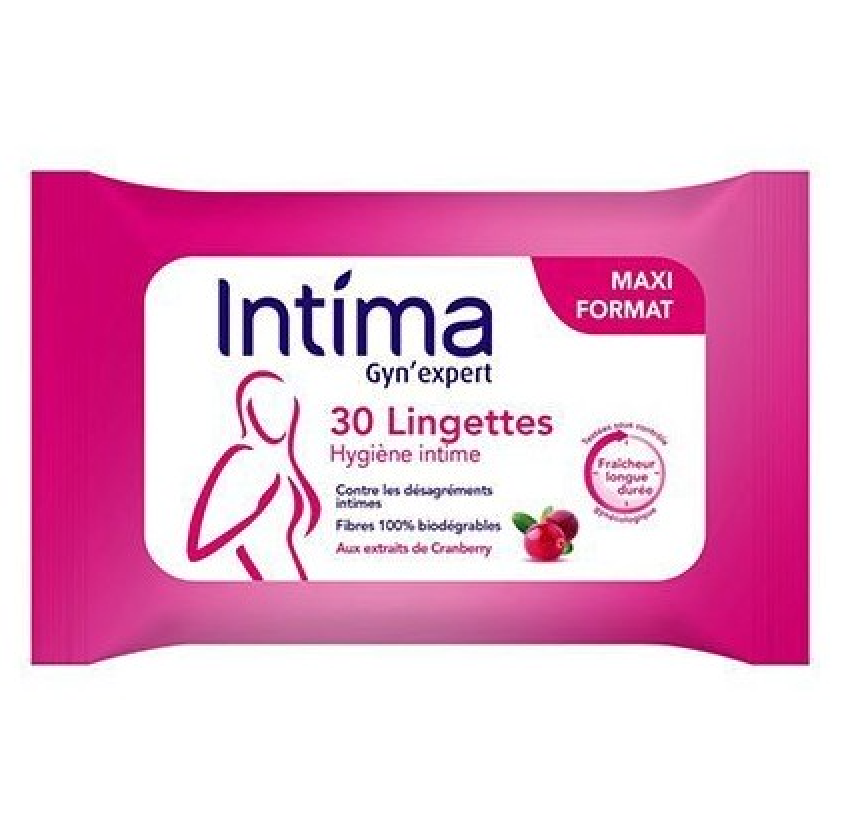 Intima Gynexpert Lingette Cranberry Paquet 30