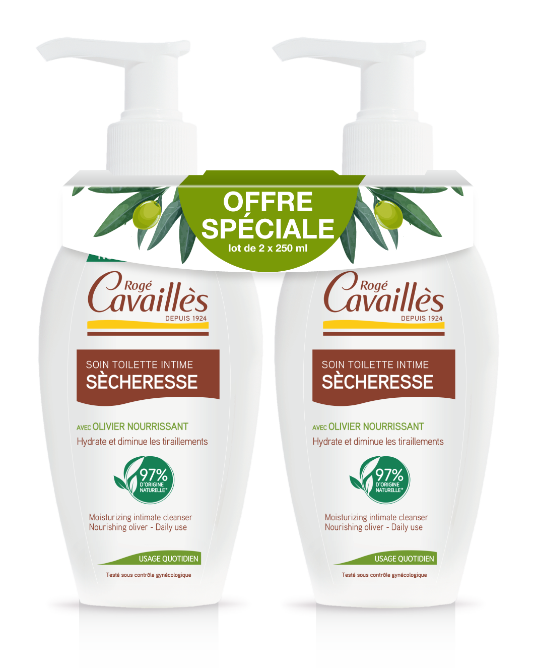Soin Toilette Intime Naturel Special Secheresse 2 X 250 Ml