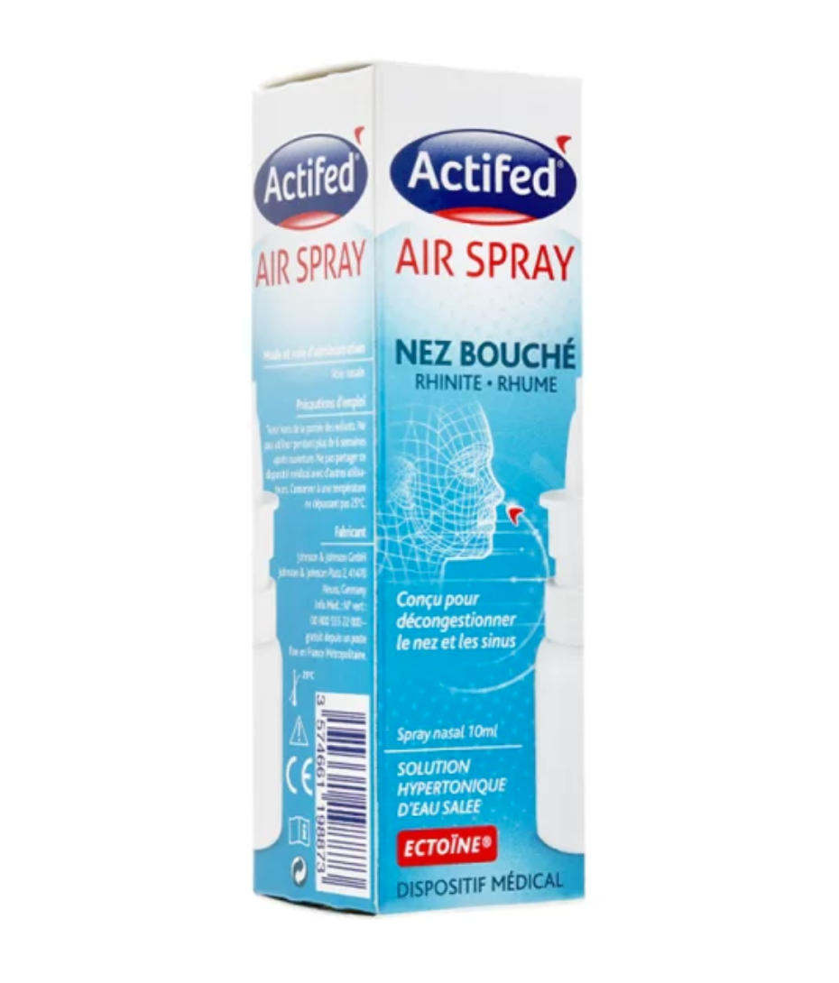 Actifed Air Spray S Nas Nez Bouche Spray 10 Ml