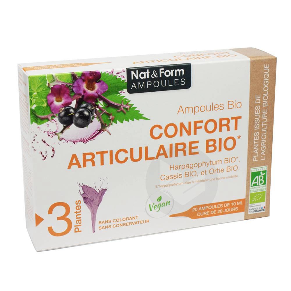NAT&FORM AMPOULES S buv confort articulaire Bio 20Amp/10ml