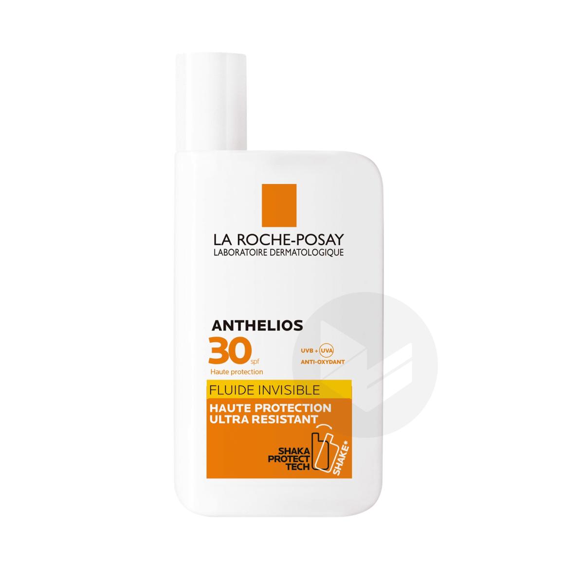 Anthelios Crème Solaire en Fluide Invisible Visage SPF30 Avec Parfum 50ml