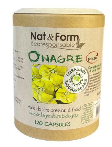 Nat Form Eco Responsable Huile D Onagre Bio Vitamine E Caps B 120