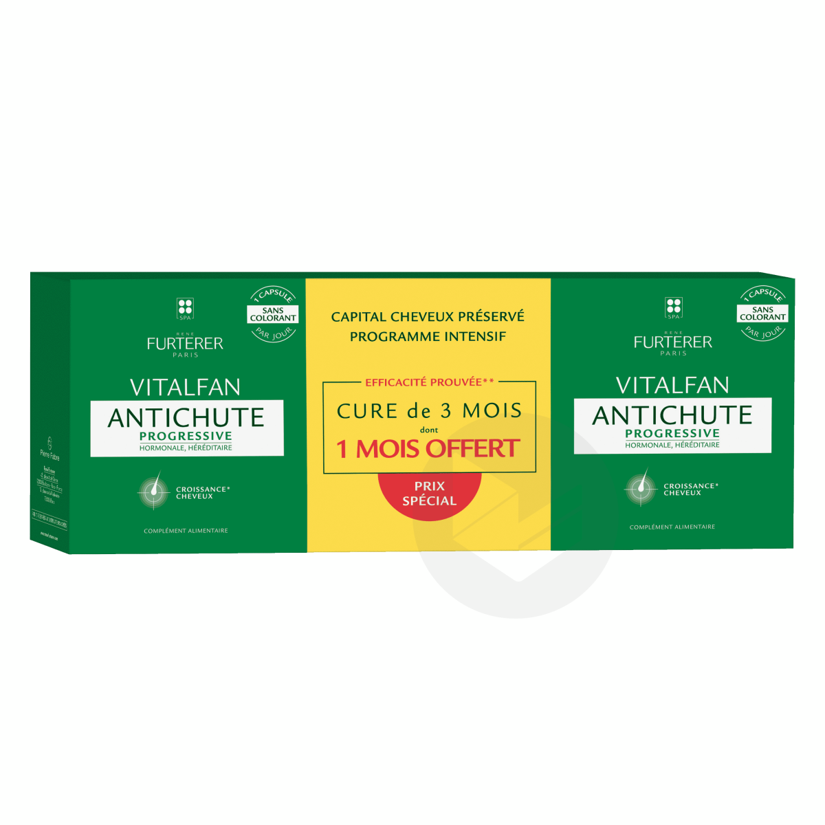 Antichute progressive complément alimentaire chute cheveux 3x30 capsules