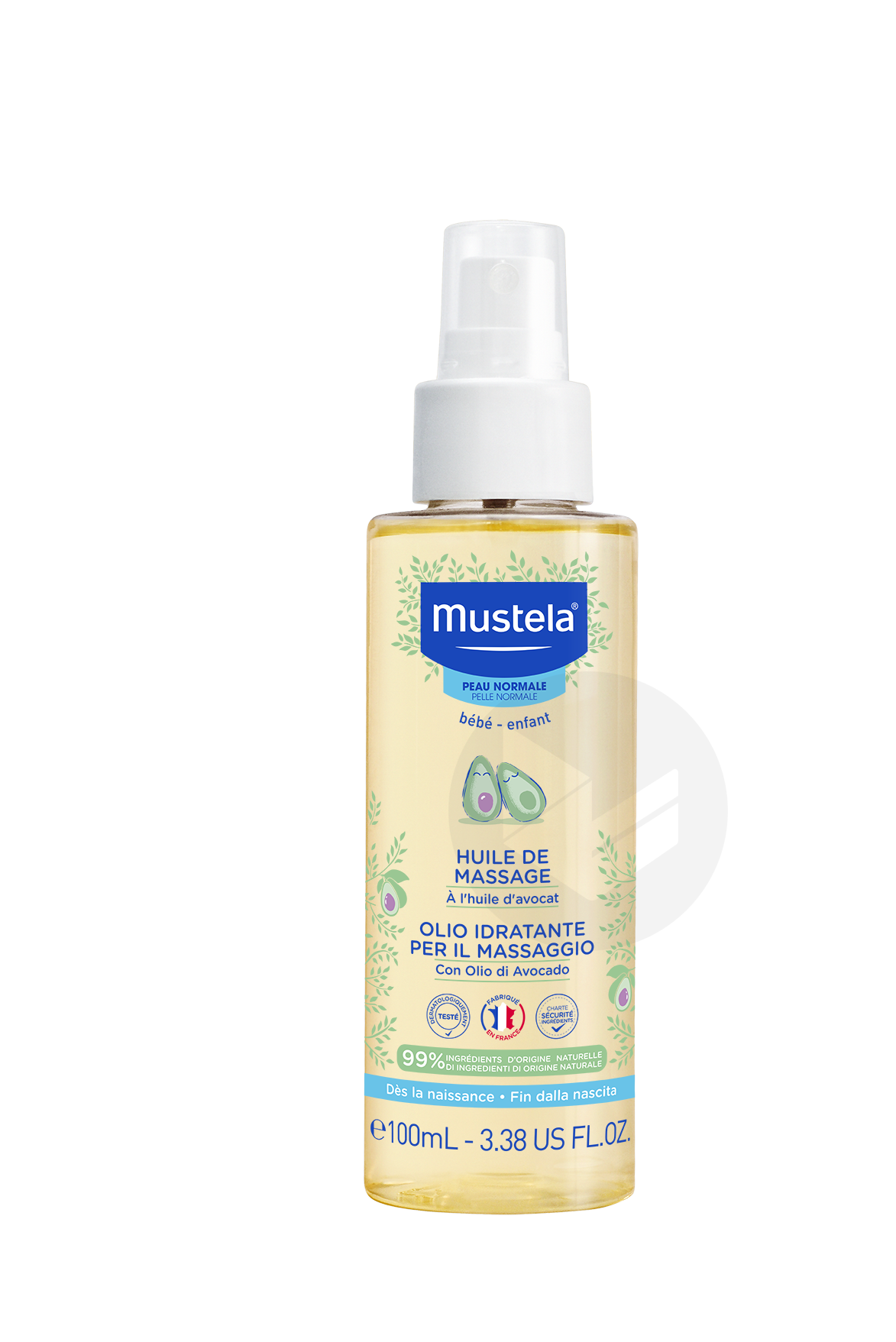 Huile de Massage Mustela 100 ml
