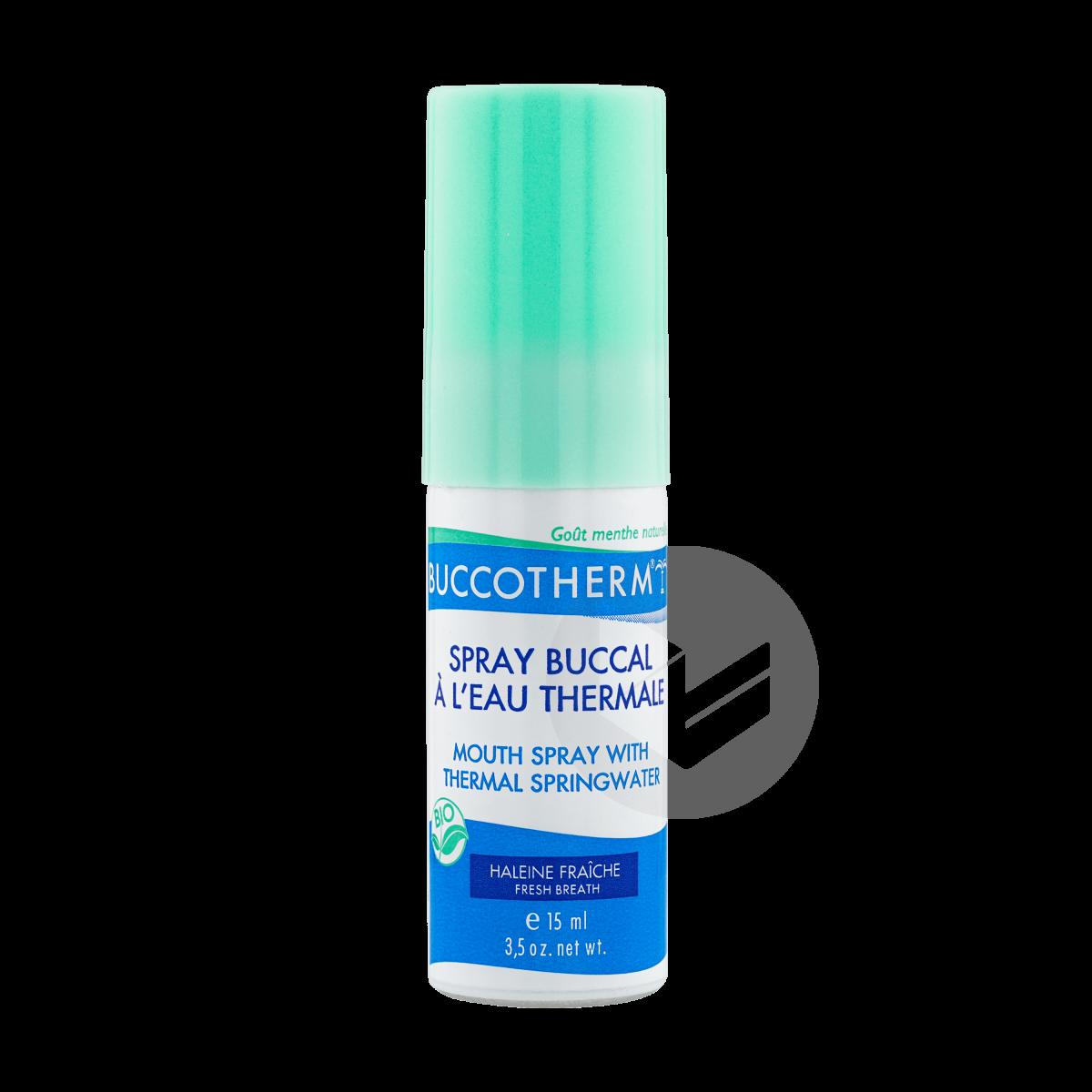 Spray Buccal Bio à l'eau Thermale goût menthe fraîche 75ml
