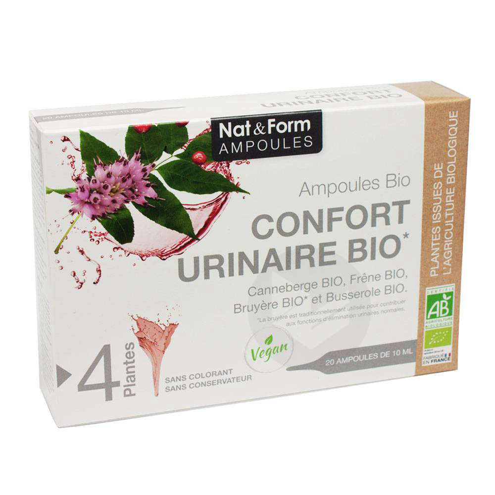 NAT&FORM AMPOULES S buv confort urinaire Bio 20Amp/10ml