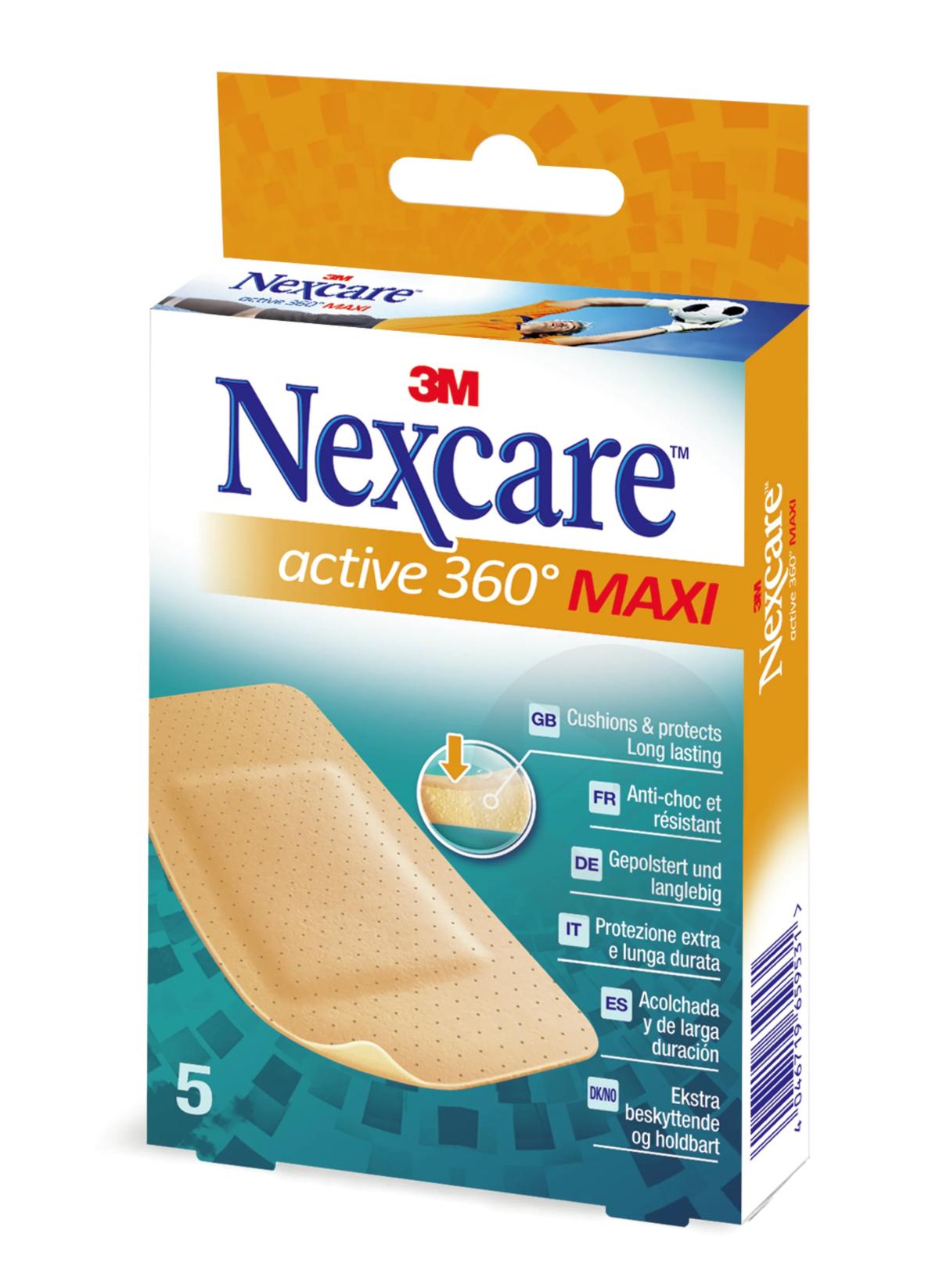 Nexcare Active 360° Maxi 50mm x 101mm x5