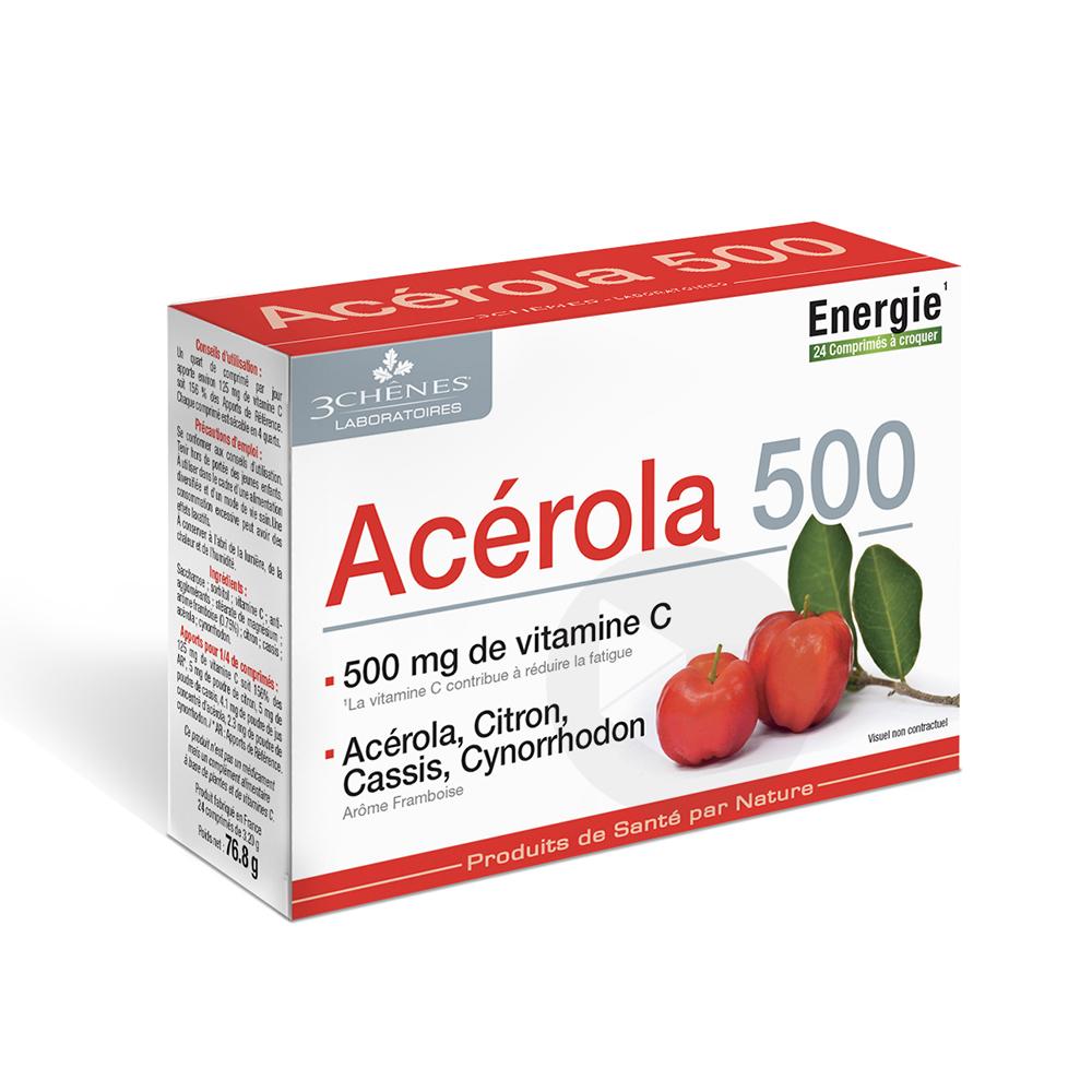 Acérola 500 24 comprimés