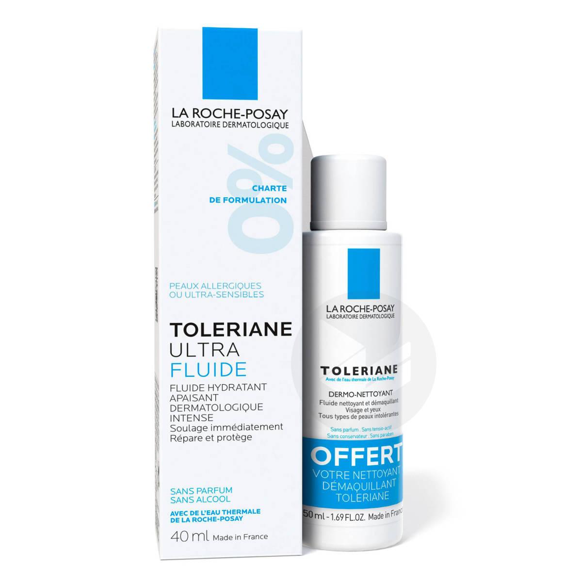 Toleriane Ultra Fluide hydratant apaisant intense 40ml  + Démaquillant offert
