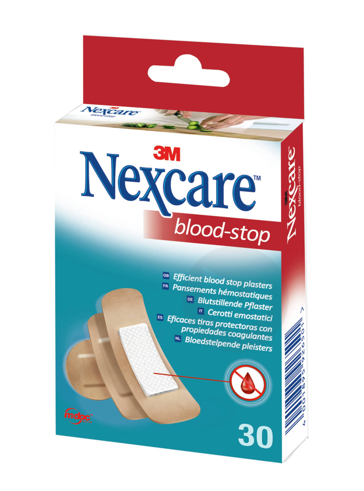 Nexcare Blood Stop Pansement Hemostatique Couleur Chair X 30