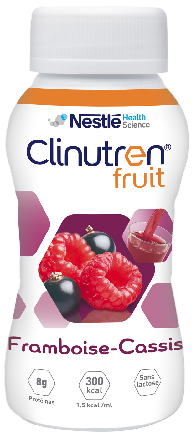 Clinutren Fruit Framboise Cassis 4 X 200 Ml