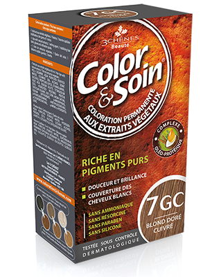Color Et Soin Coloration Permanente Blond Dore Cuivre 7 Gc