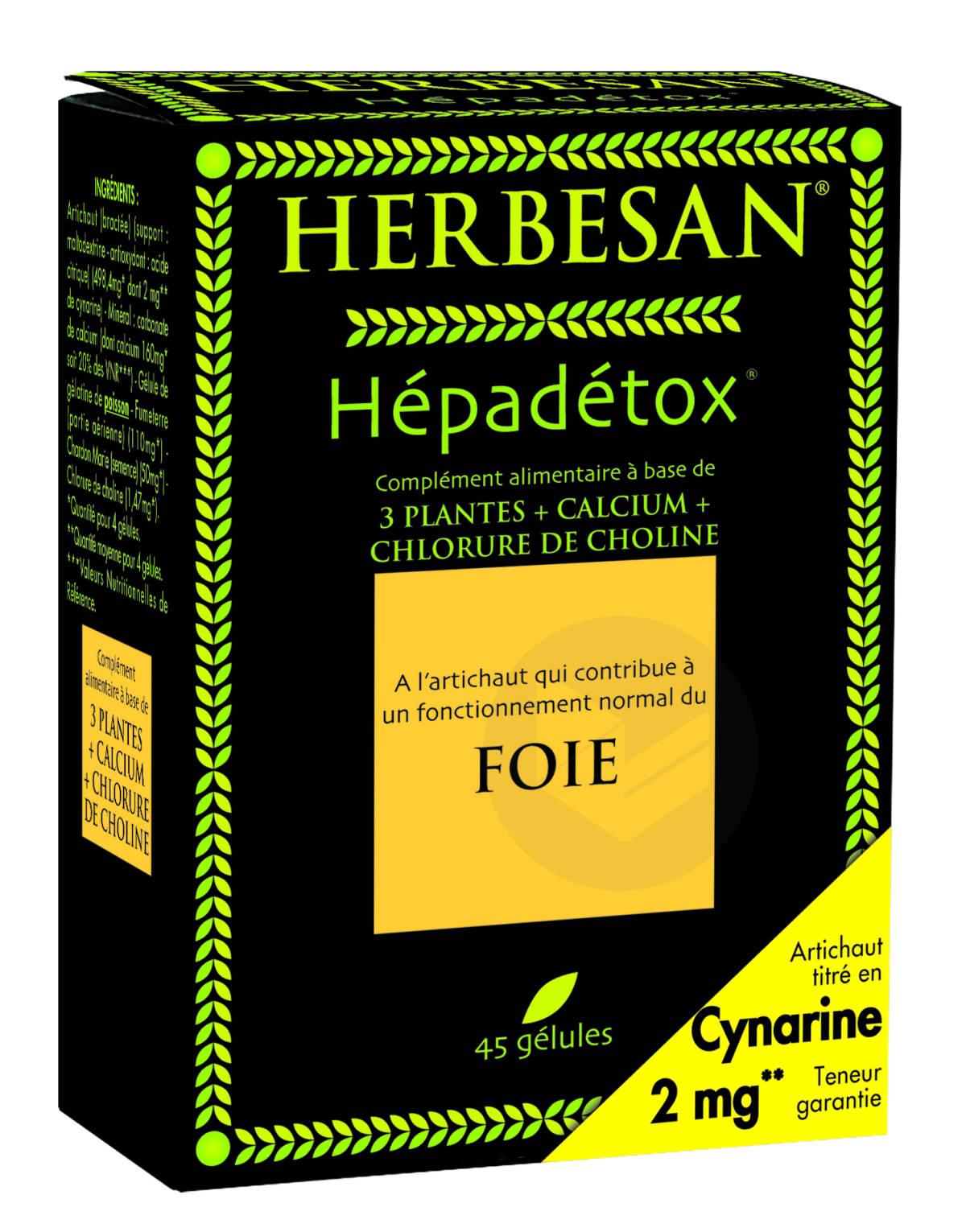 Hepadetox 45 gélules