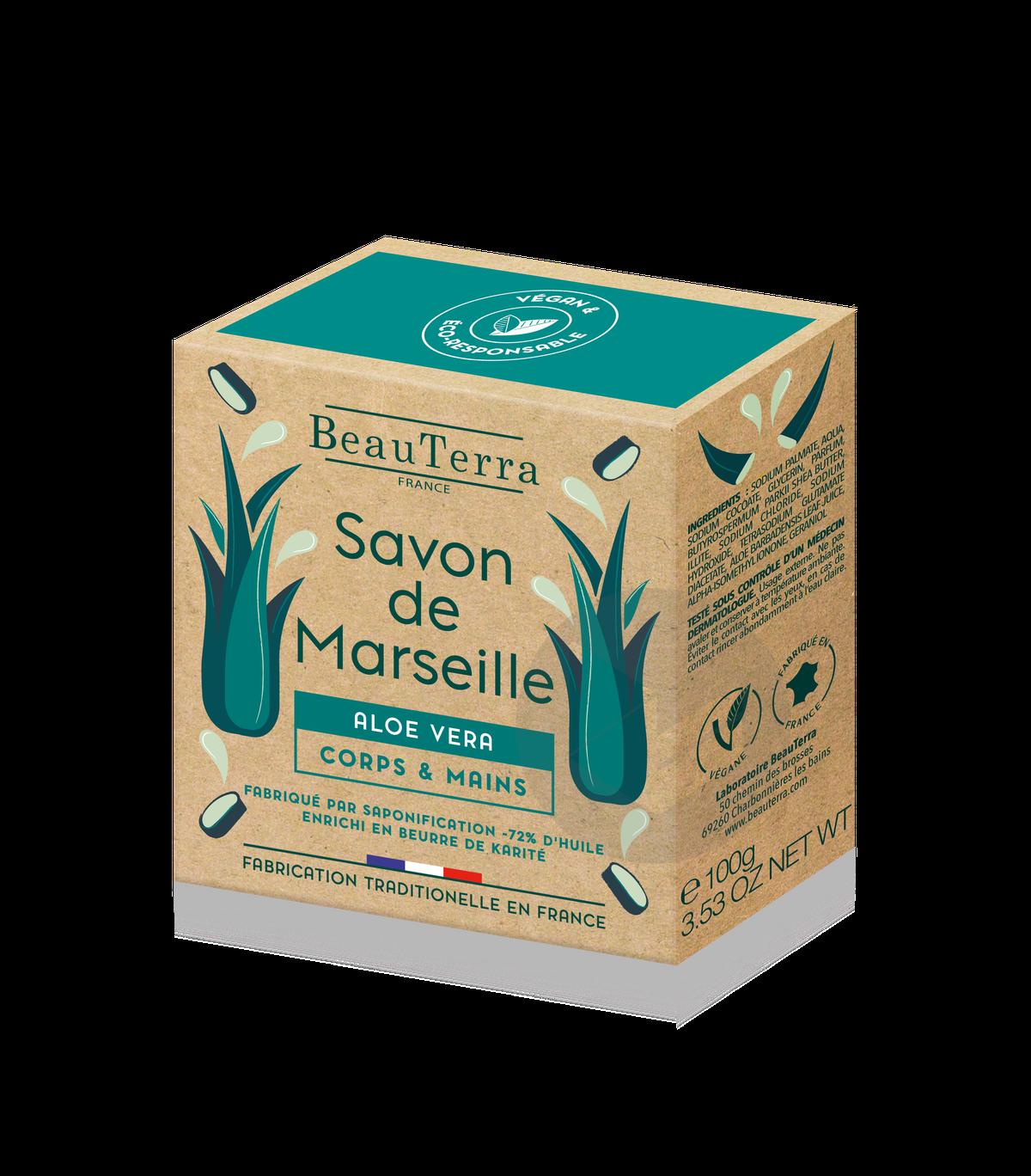 Savon De Marseille Solide Aloe Vera 100 G