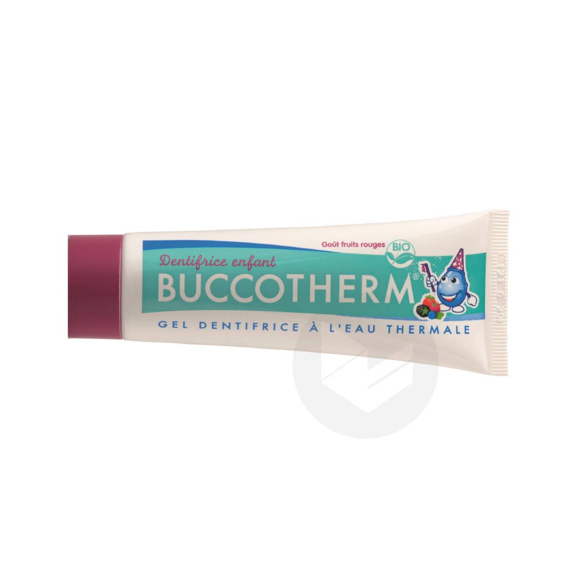 Gel dentifrice Bio à l'Eau Thermale Sans Fluor goût fruits rouges dès 3 ans 50ml