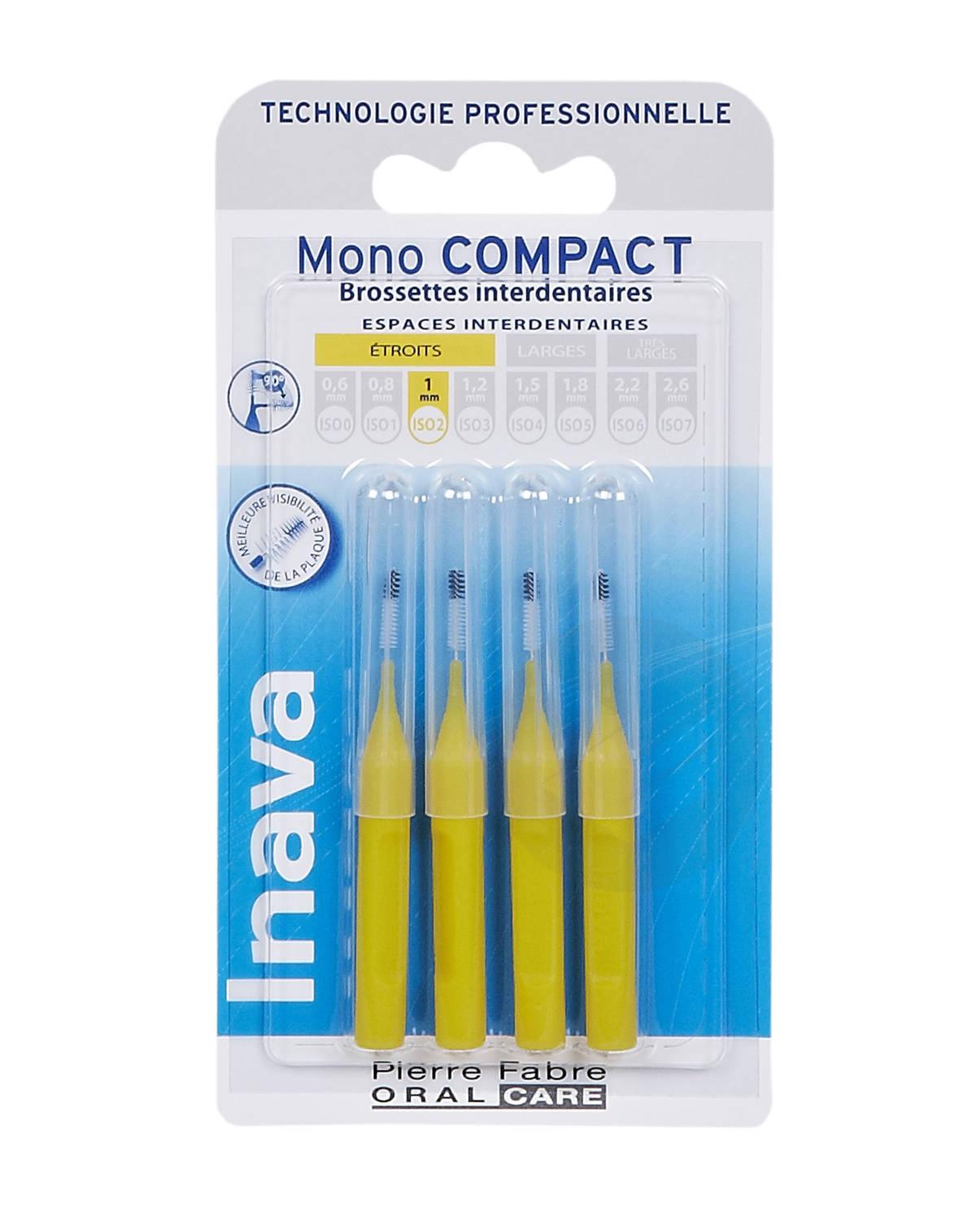 Brossettes Mono-Compact Jaune ISO 2 - 1mm x4