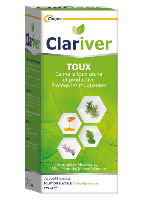 Clariver Toux Solution Buvable Adulte 175 Ml