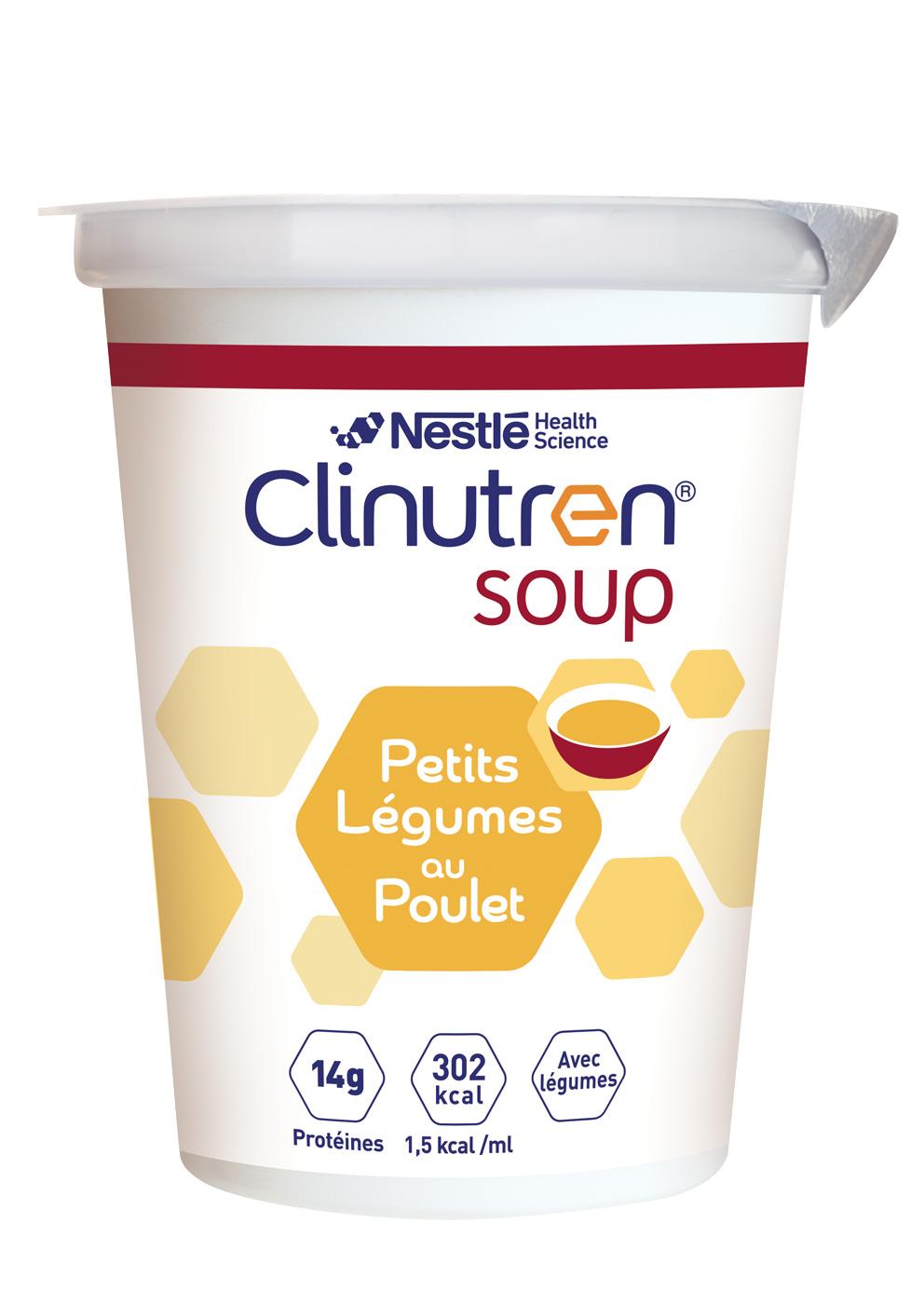 Clinutren Soup Petits légumes au poulet 4x200ml