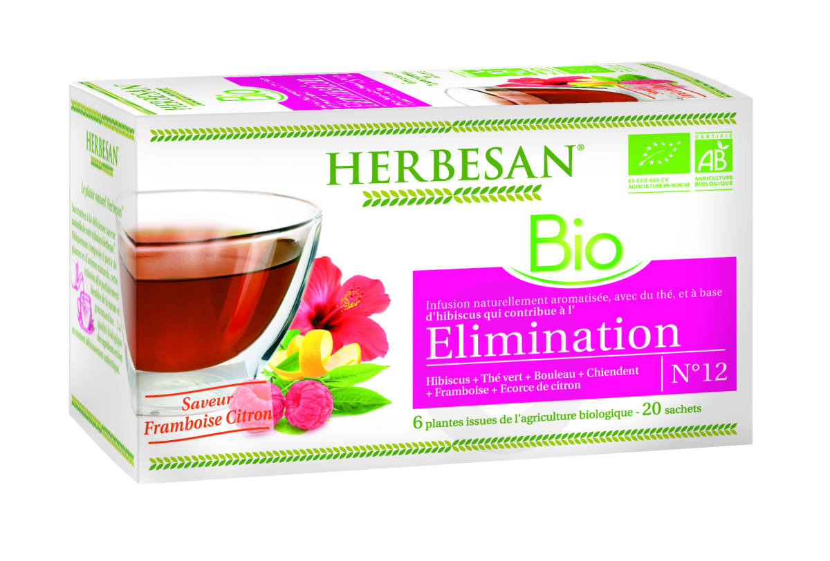 Infusion Hibiscus Elimination Bio 20 Sachets