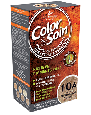 Color Et Soin Coloration Permanente Blond Clair Cendre 10 A