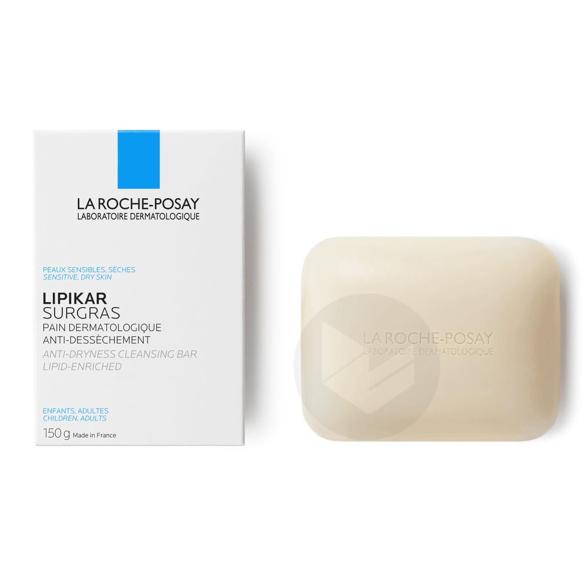 Lipikar Surgras Pain dermatologique anti-dessèchement Pain 150g