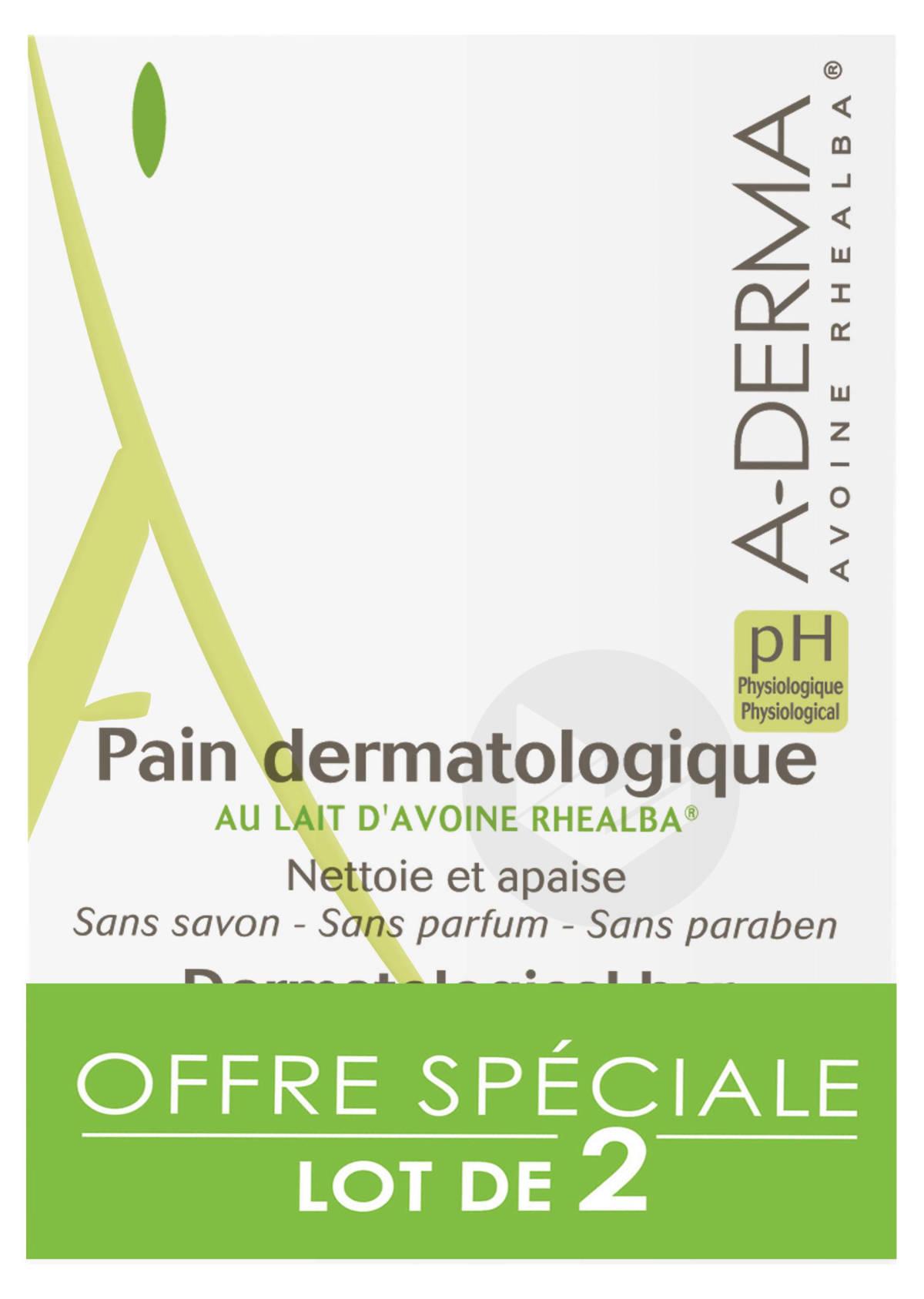 Pain dermatologique nettoyant apaisant au Lait d'Avoine 2x100g