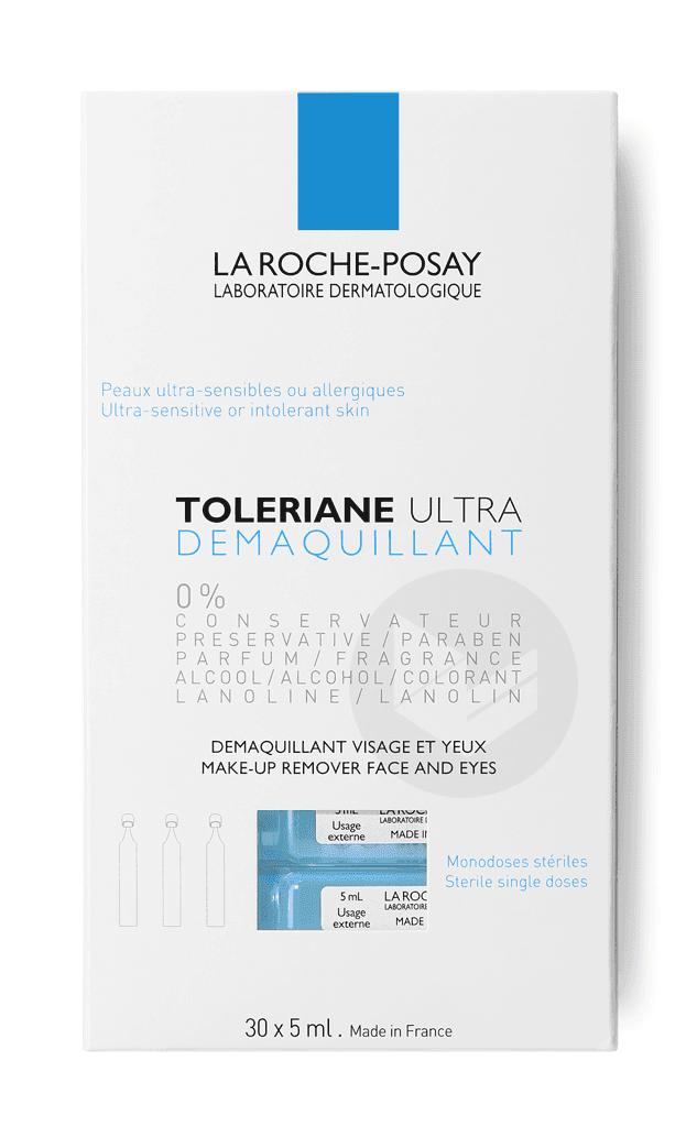 Toleriane Ultra Démaquillant visage et yeux peaux ultra-sensibles à allergiques Monodoses stériles 30 x 5ml
