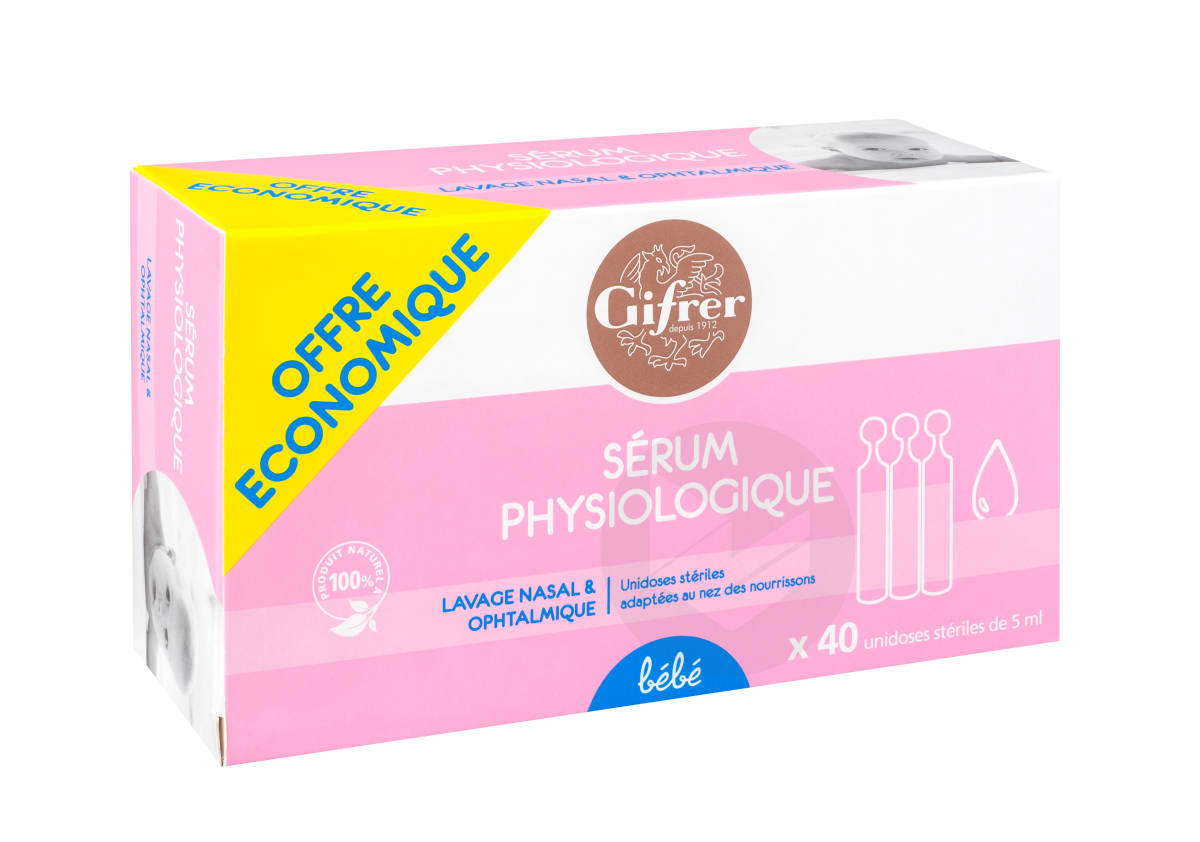 Sérum Physiologique 40x5ml
