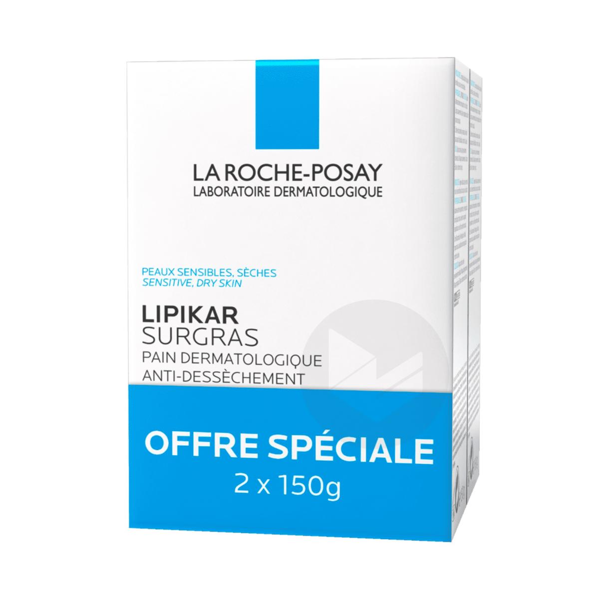 Lipikar Pain surgras dermatologique anti-dessèchement 2x150g