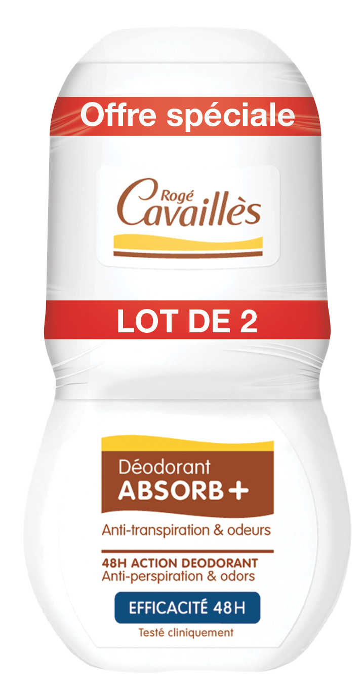 Deodorant Absorb Efficacite 48 H Roll On 2 X 50 Ml