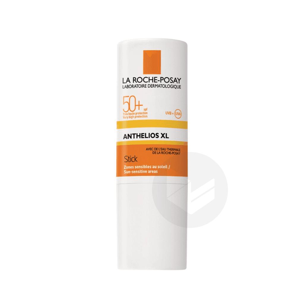 Anthelios Crème Solaire en Stick Zones Sensibles Visage SPF50+ Sans Parfum 9g
