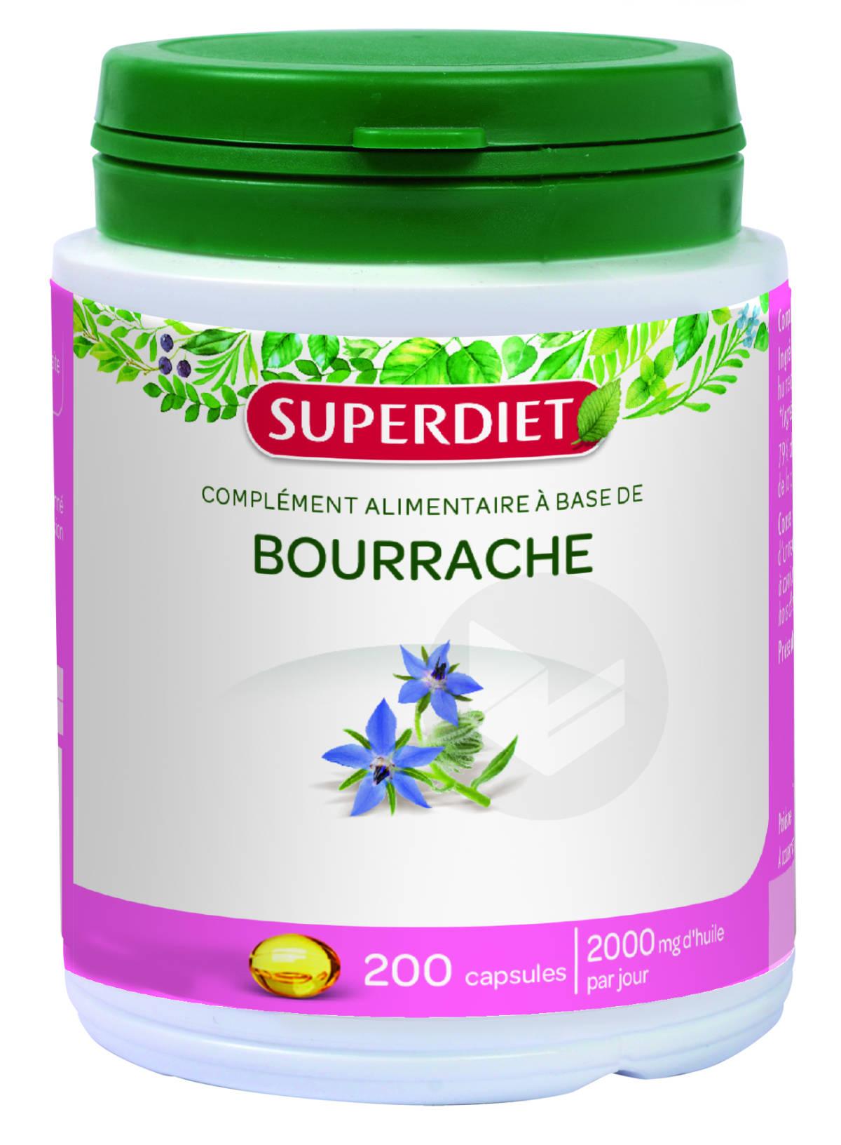 Huile De Bourrache 200 Capsules
