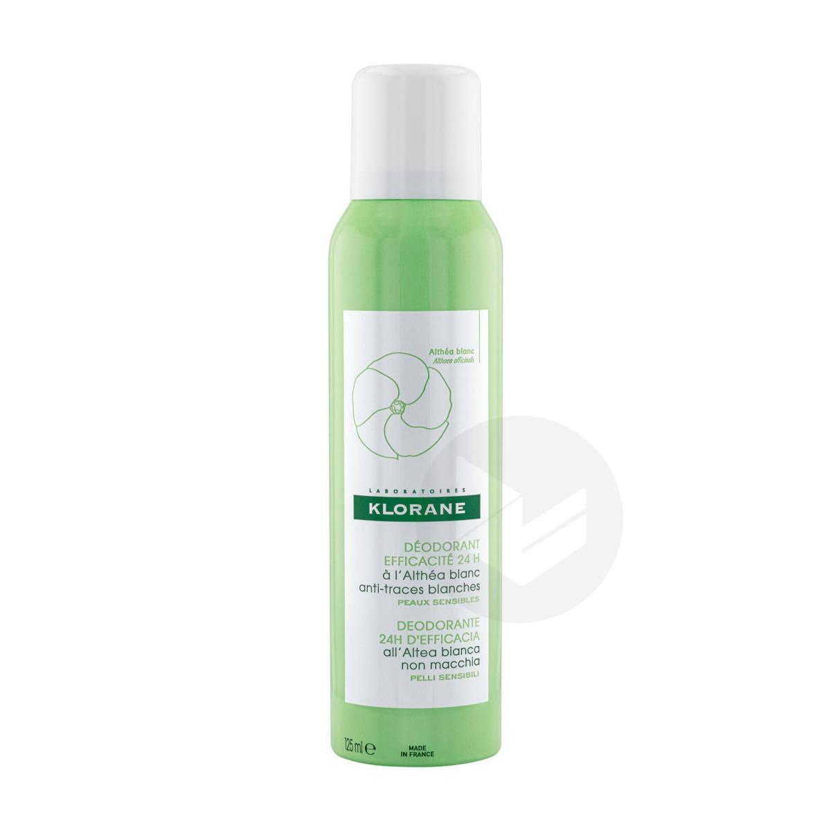 Déodorant Spray à l'Althéa Blanc efficacité 24h 125ml