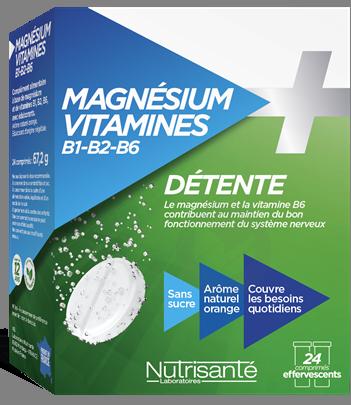 Magnesium Vitamines B 1 B 2 B 6 24 Comprimes