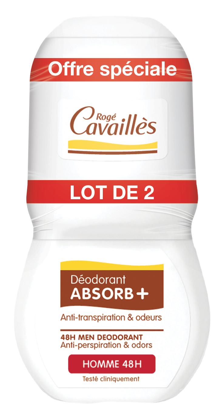 Deodorant Absorb Homme Roll On 2 X 50 Ml