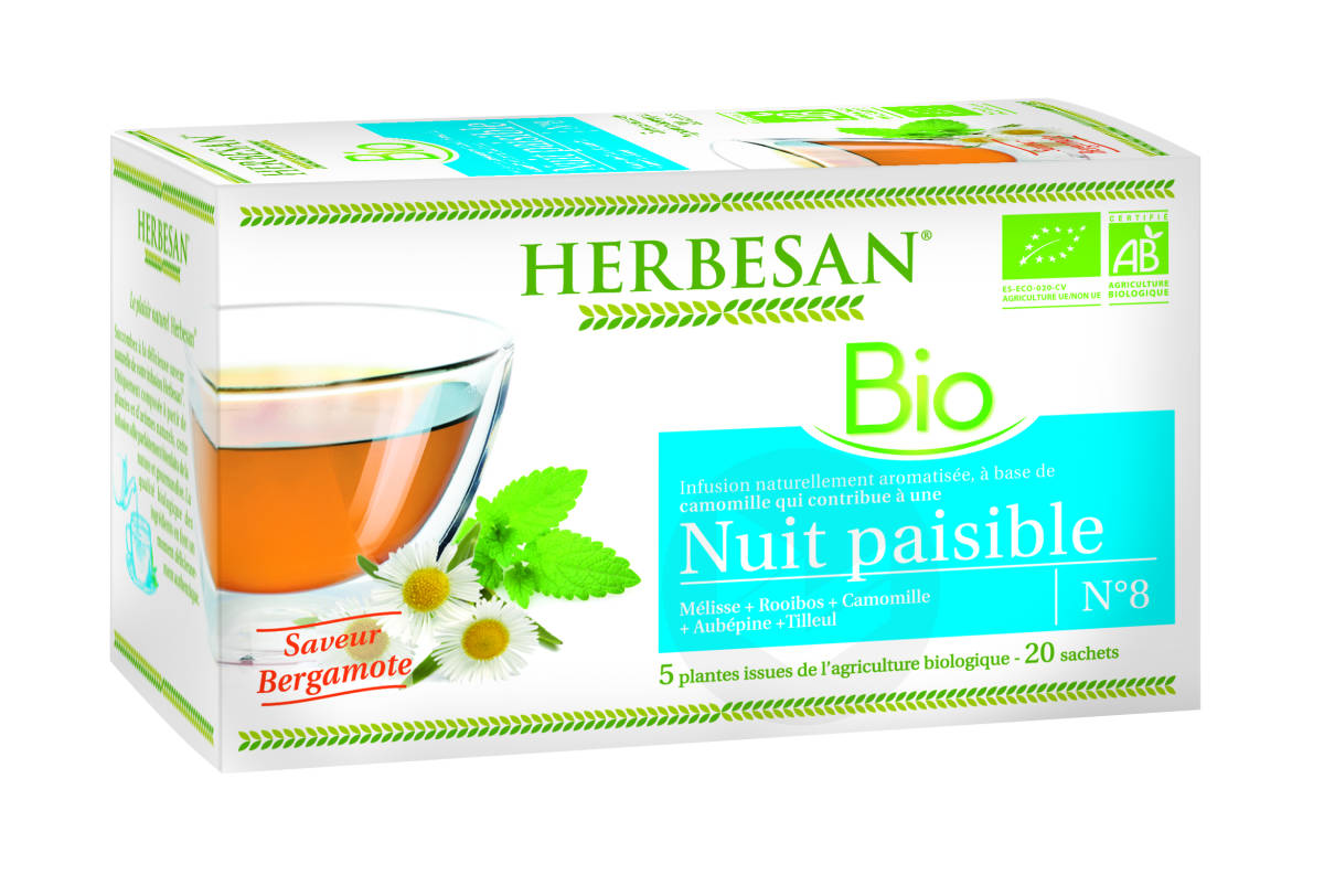 Infusion Camomille Nuit Paisible Bio 20 Sachets