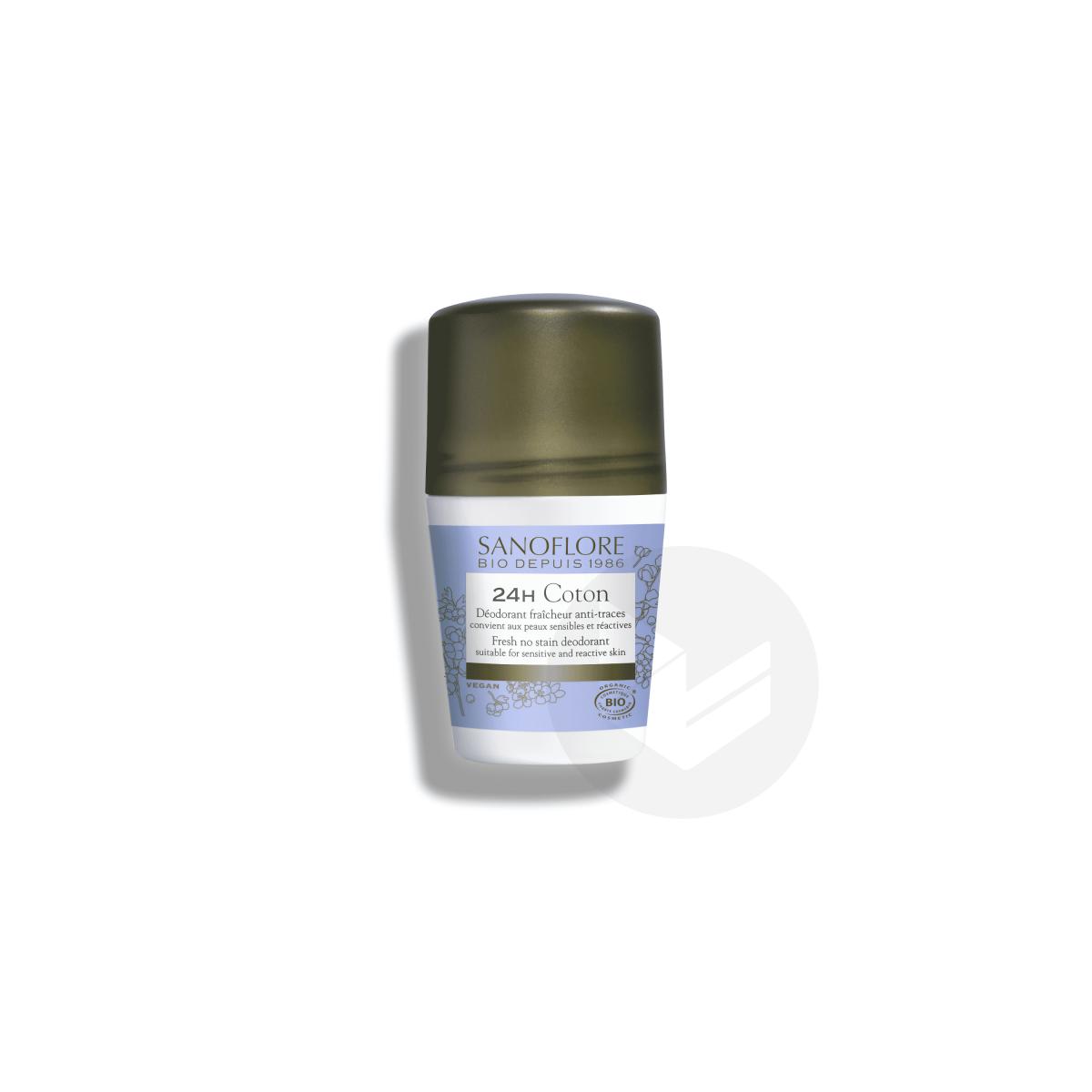 Déodorant Coton efficacité 24h bio 50ml