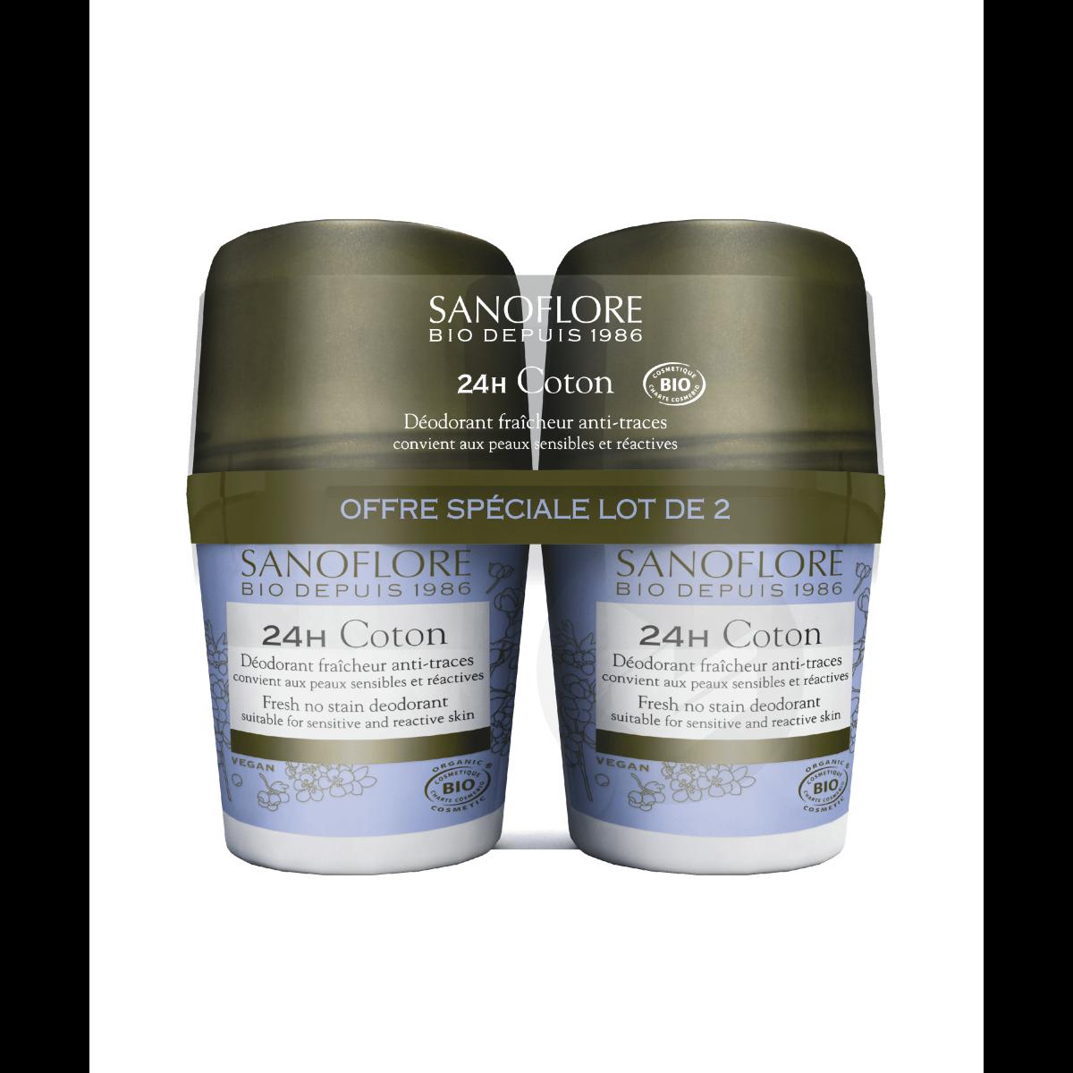 Déodorant Coton efficacité 24h bio 2x50ml