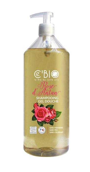GRAVIER Shampooing douche rose d'antan Fl pompe/1l