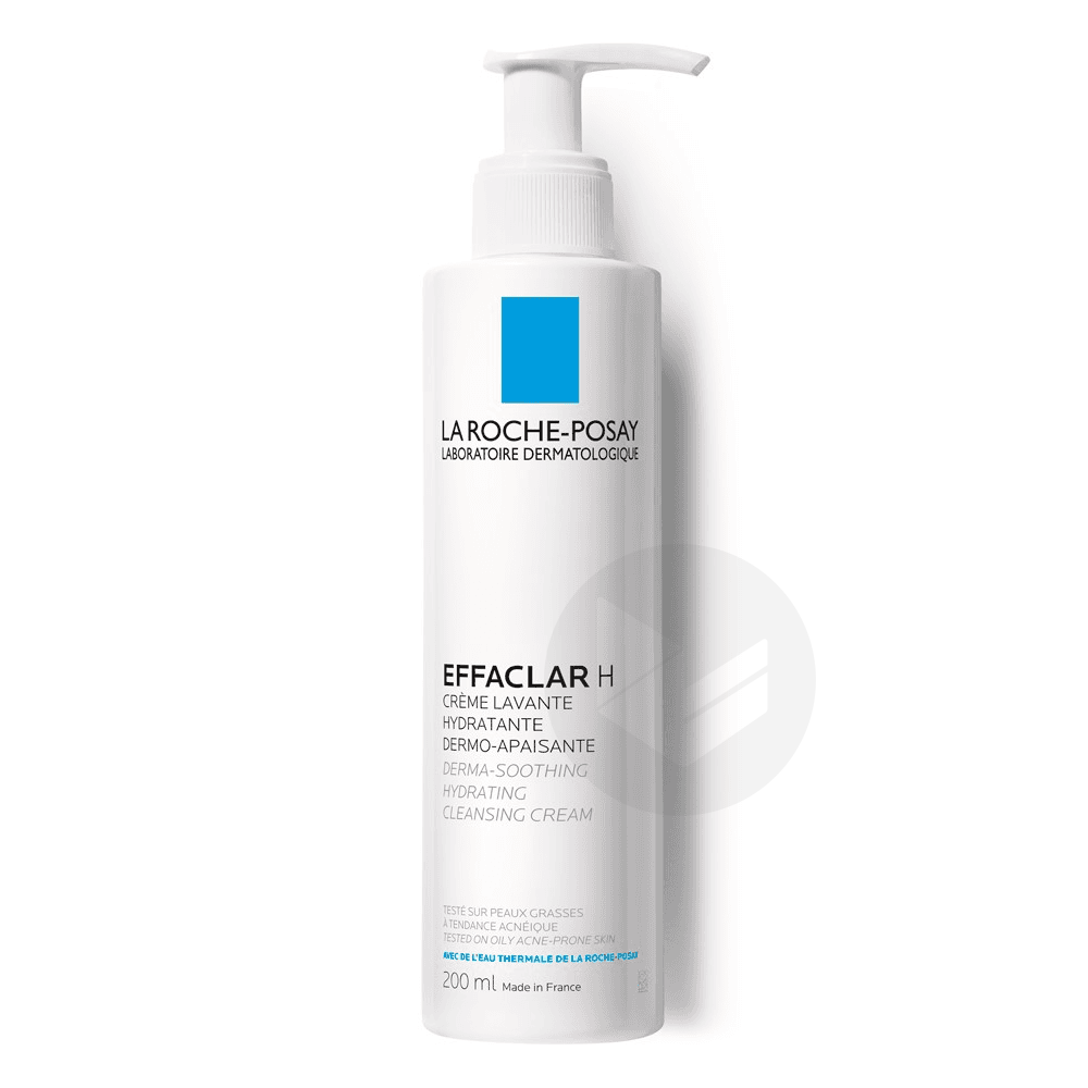 Effaclar H Crème lavante hydratante et dermo-apaisante 200ml