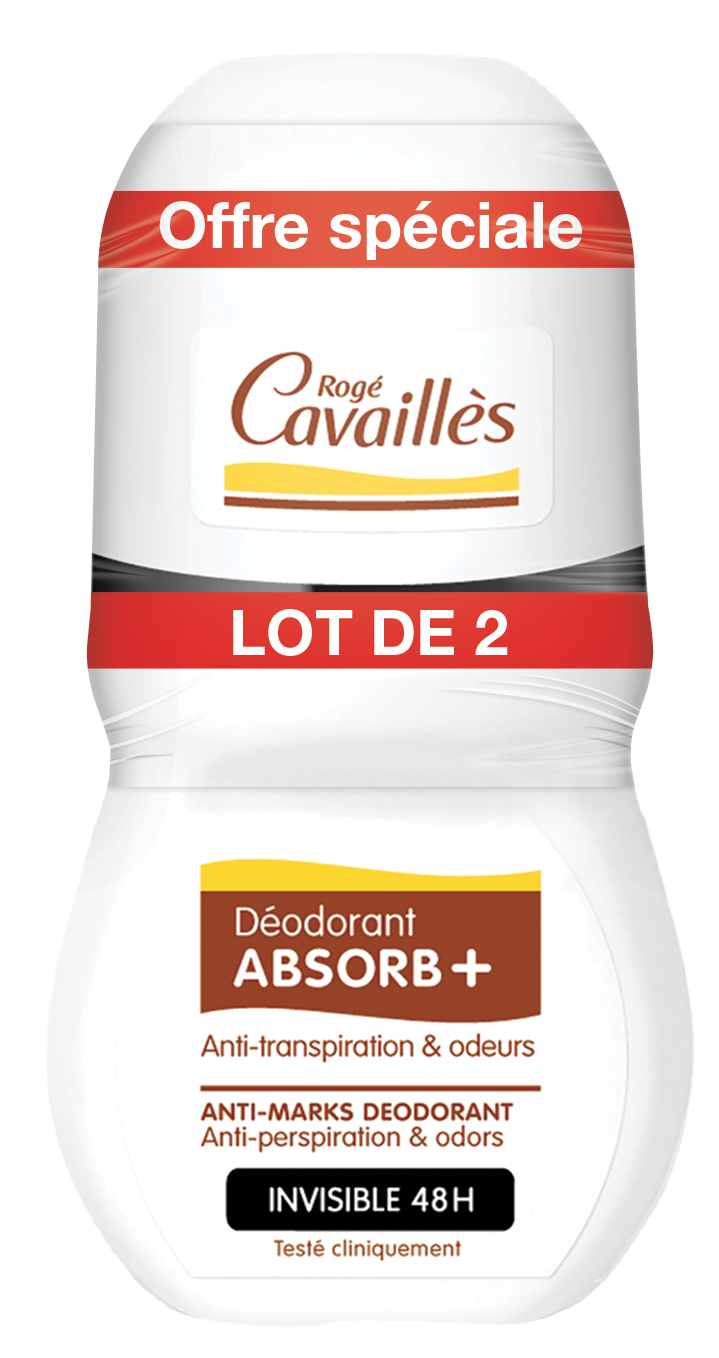 Deodorant Absorb Invisible Roll On 2 X 50 Ml