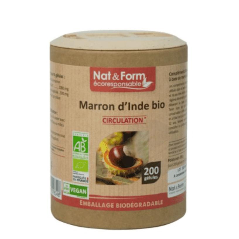 NAT&FORM ECO RESPONSABLE Marron d'inde Bio Gél B/200