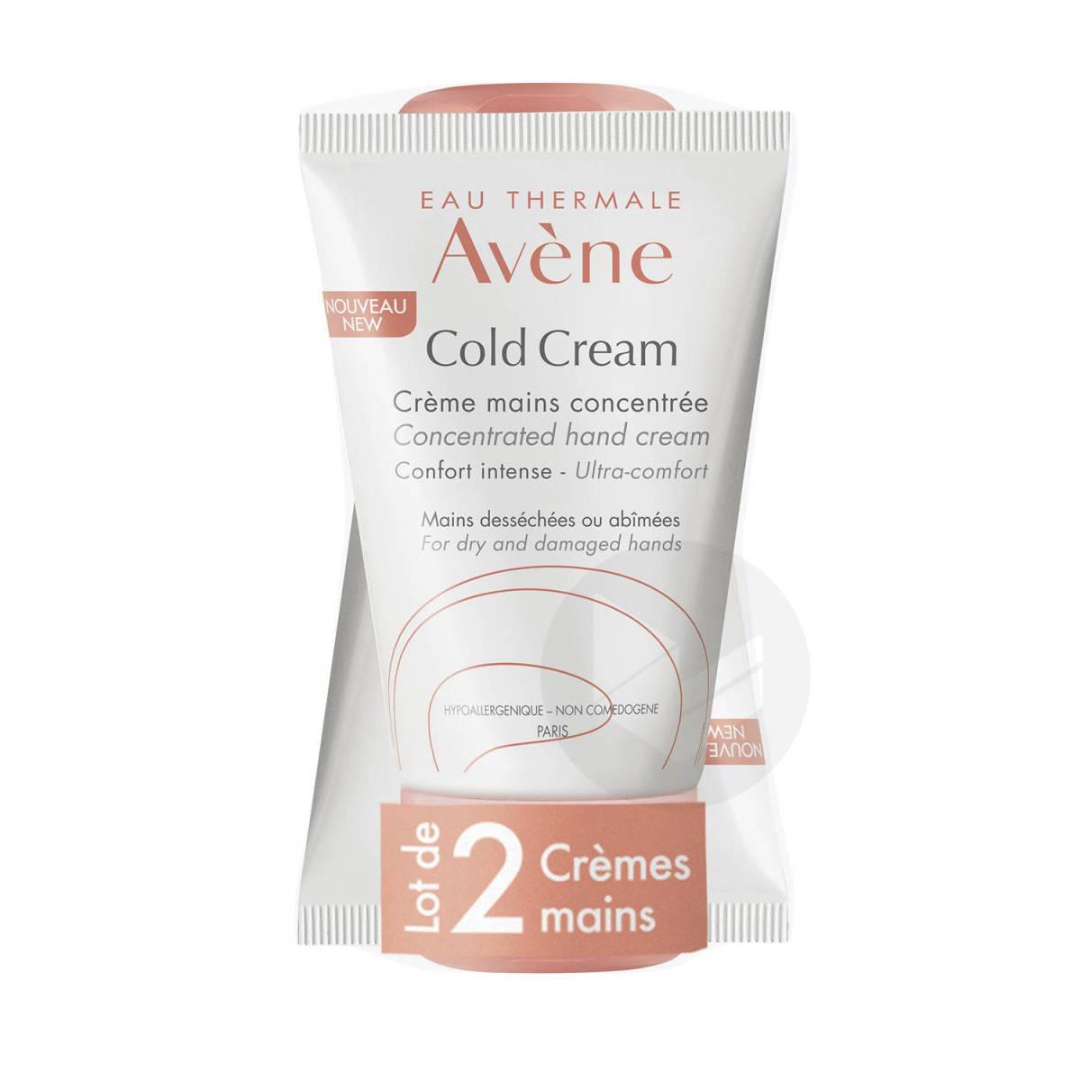 Crème Mains Concentrée Nourrissante Protectrice 2x50ml