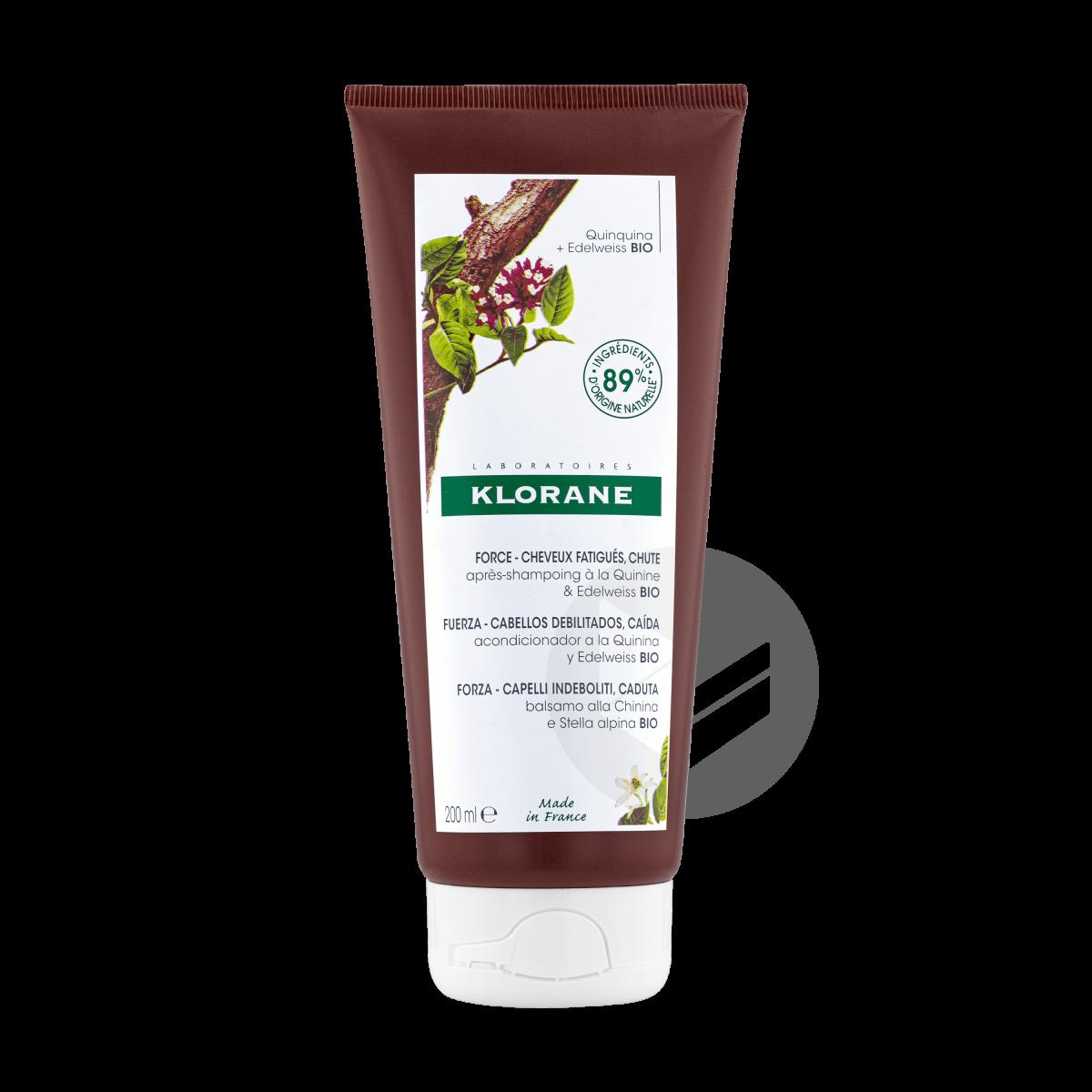 Après-shampoing fortifiant à la Quinine & Edelweiss BIO 200ml