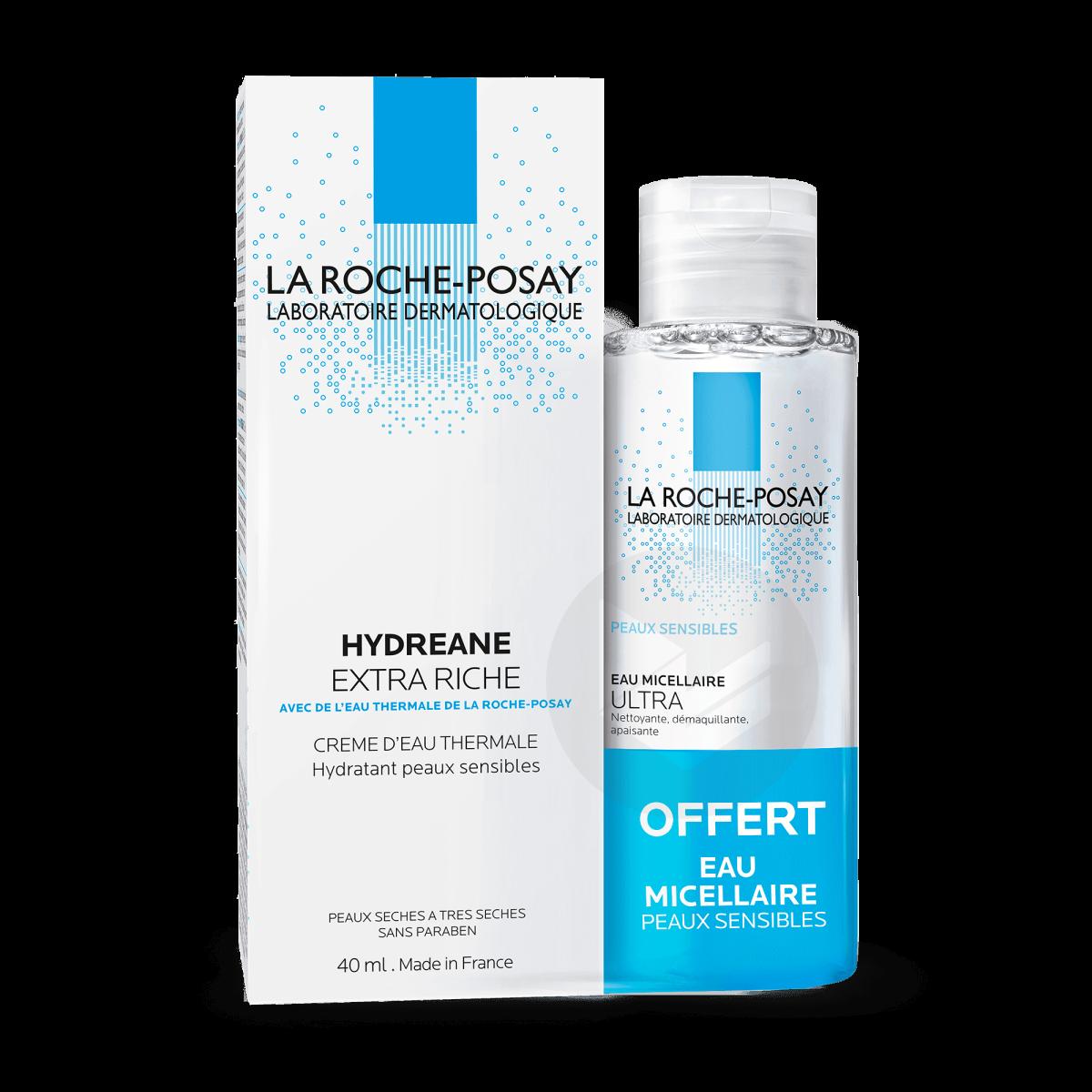 Hydreane Crème hydratante extra  riche + Eau micellaire offerte