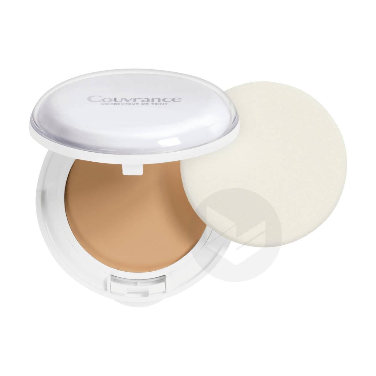 Crème De Teint Compacte Fini Mat Poudré Naturel Porcelaine N°1.0 - Peaux Très Claires Et Sensibles 10g