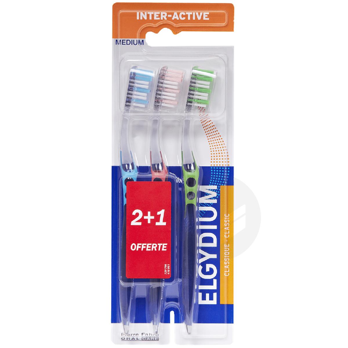 Brosse à dents Interactive médium x3